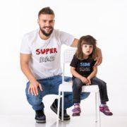 Superdad, Sidekick Shirts, White/Black/Red, Black/White/Blue