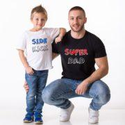 Superdad, Sidekick Shirts, White/Black/Blue, Black/White/Red