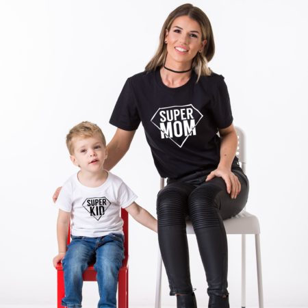 Super Mom Super Kid Shirts, Matching Mommy and Me Shirts