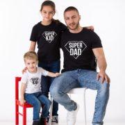 Super Dad, Super Kid Shirts, White/Black, Black/White