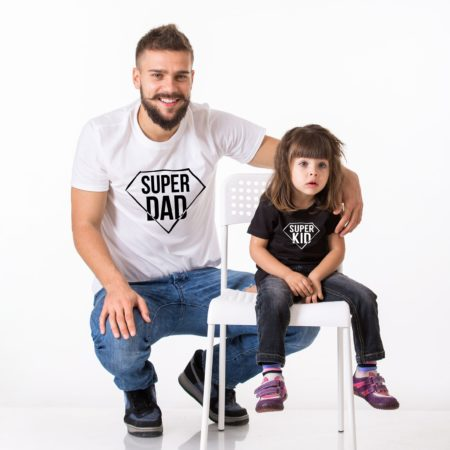 Super Dad Super Kid Shirts, Matching Daddy and Me