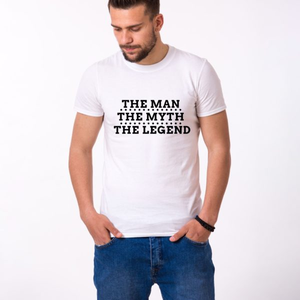 The Man The Myth The Legend Shirt, White/Black
