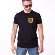 World's Best Dad Shirt, Black/Gold