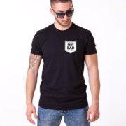 World's Best Dad Shirt, Black/White