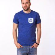 World's Best Dad Shirt, Blue/White