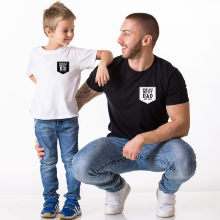 World's Best Dad Shirt, World's Best Kid Shirt, Matching Daddy and Me