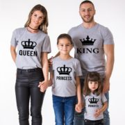 King, Queen, Prince, Princess, Gray/Black
