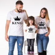 King, Queen, Prince, Princess, White/Black