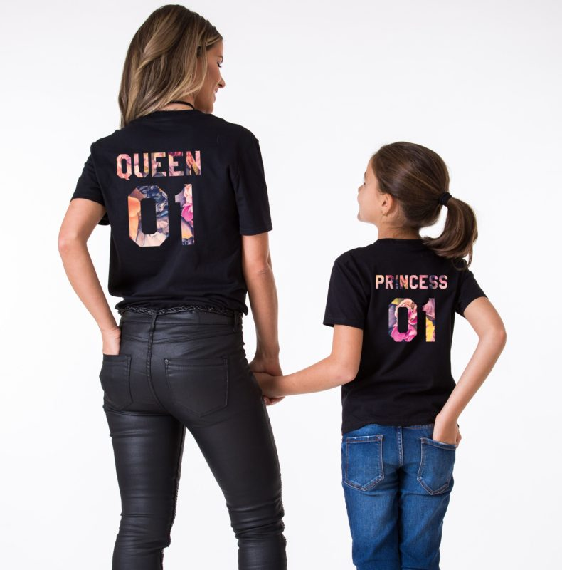 Queen Princess 01 Shirts, Matching Mommy and Me Shirts