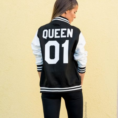 Queen 01 Varsity Jacket, College Jacket, Letterman Jacket, UNISEX
