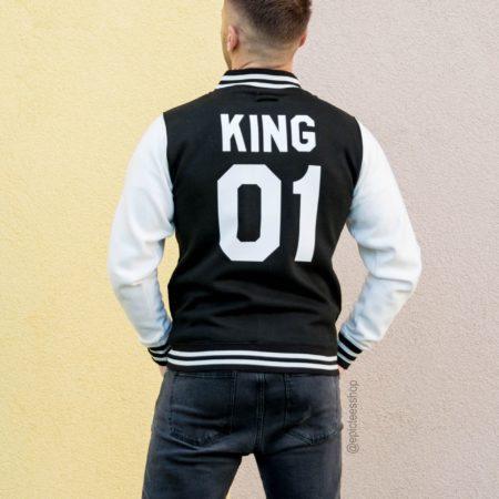 King 01 Varsity Jacket, Letterman Jacket, College Jacket, UNISEX
