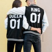 Varsity Jackets, King 01, Queen 01, Back