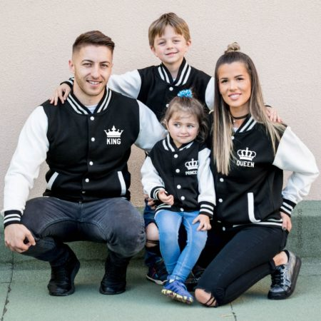 Family Varsity Jackets, King 01, Queen 01, Prince 01, Princess 01
