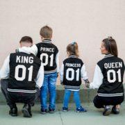 Varsity Jacket, King 01, Queen 01, Prince 01, Princess 01