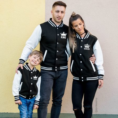 King 01 Queen 01 Prince 01 Varsity Jackets, College Jackets, UNISEX