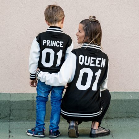 Queen 01 Prince 01 Varsity Jackets, Matching Jackets, UNISEX