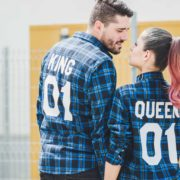 king-queen-blue-plaid-shirts-2
