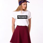 Preggers Shirt, White/Black