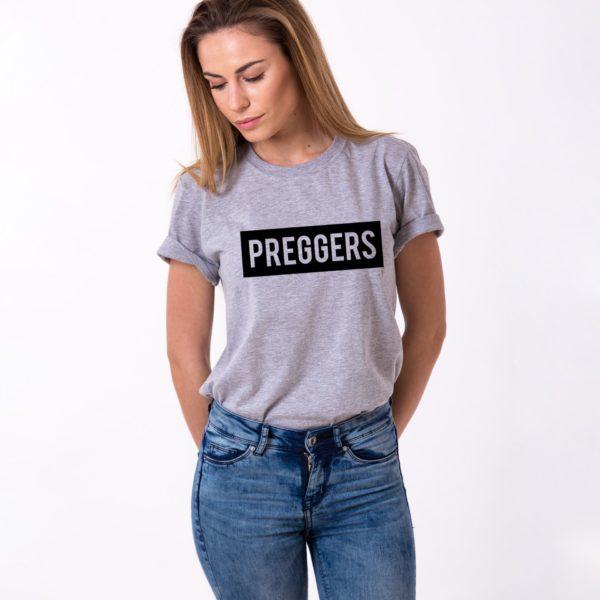 Preggers Shirt, Gray/Black