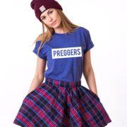 Preggers Shirt, Blue/White