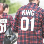 Red Plaid Shirt, King 01, Queen 01, Back