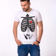 Skeleton and Food Shirt, White