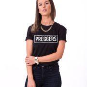 Preggers Shirt, Black/White