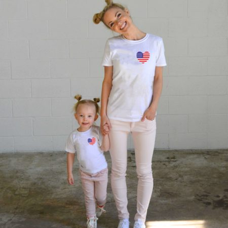 American Flag Pocket, 4th of July, Matching Family Shirts