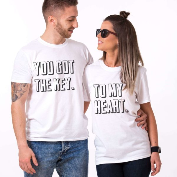 You Got the Key to My Heart Shirts, White/Black