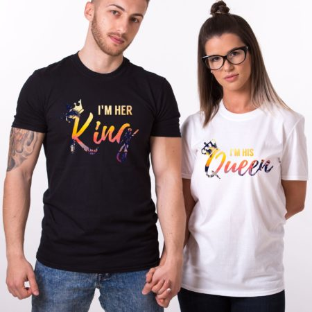 Summer Shirts, I'm Her King, I'm His Queen, Matching Couples Shirts