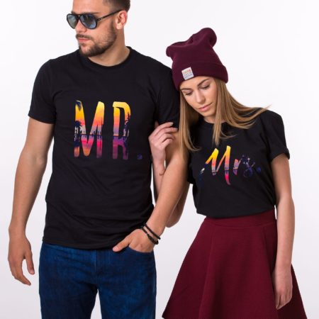 Mr and Mrs Summer Shirts, Tropical Collection, Matching Couples Shirts