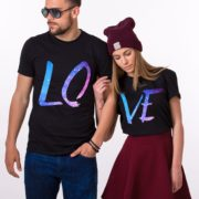 Couples Galaxy Shirts, LOVE, Matching Couples Shirts