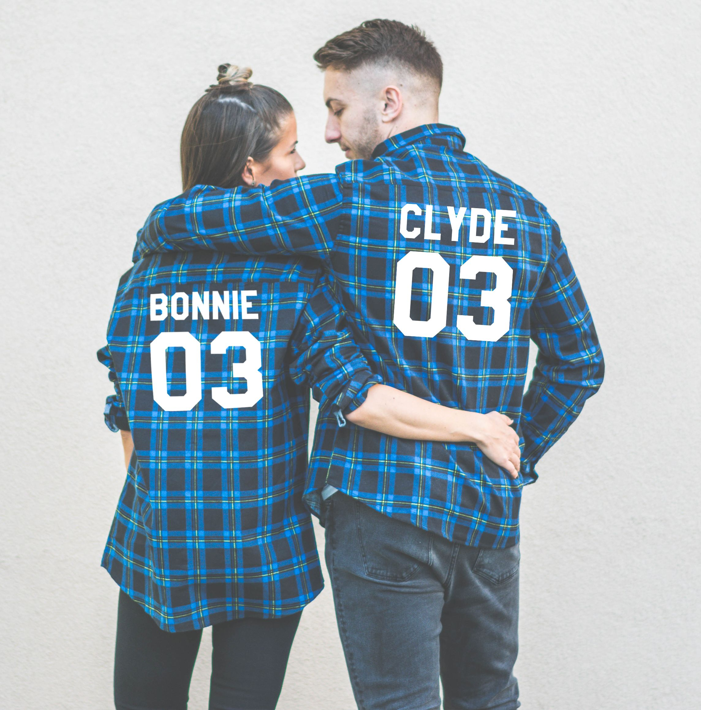 bonnie and clyde matching shirts t shirts design concept. Black Bedroom Furniture Sets. Home Design Ideas