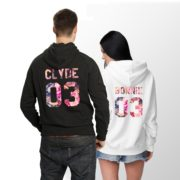Bonnie 03 Clyde 03 Hoodies, Matching Couples Hoodies