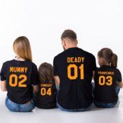 Halloween Family Shirts, Deady 01 Mummy 02 Frankenkid 03 Zombaby 04