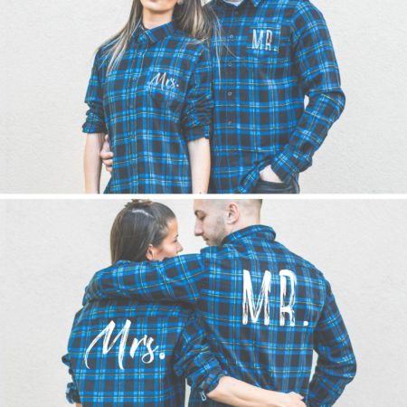Mr Mrs Plaid Shirts, Matching Plaid Shirts, UNISEX