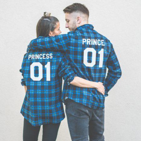 Prince 01 Princess 01 Plaid Shirts, Matching Plaid Shirts