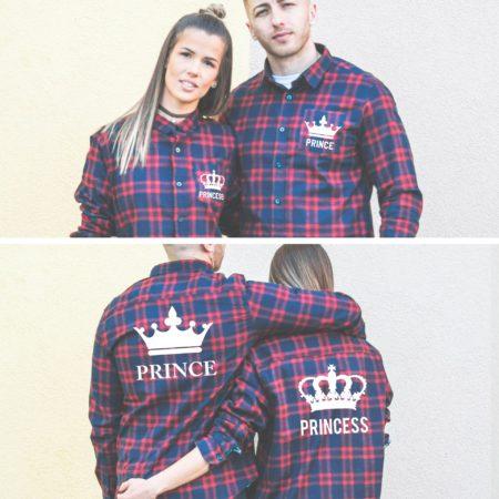 Prince Princess Crowns, Matching Plaid Shirts, UNISEX