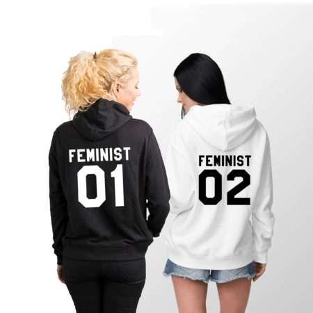 Feminist 01 Feminist 02 Hoodies