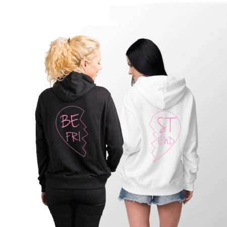 Best Friend Heart Hoodies