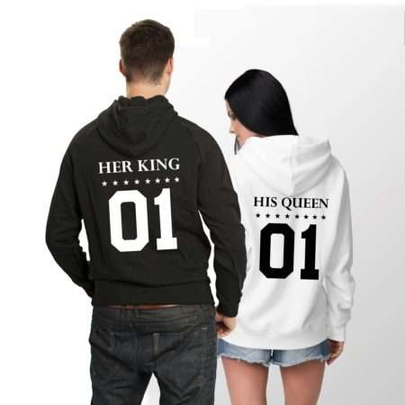 Her King His Queen Hoodies