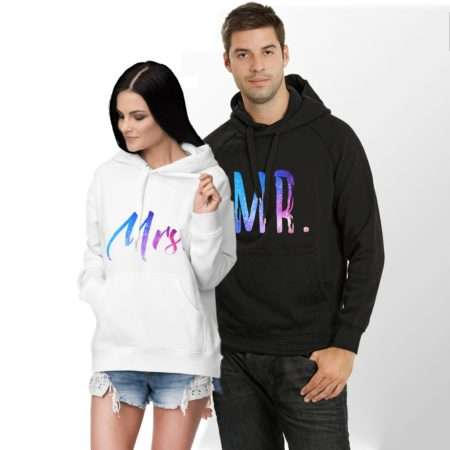 Mr Mrs Galaxy Hoodies