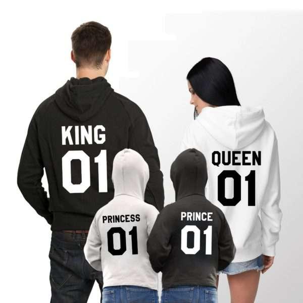 King Queen Prince Princess Hoodies