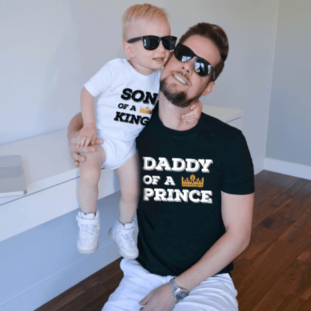 Daddy of a Prince Daughter of a King shirts, Matching Daddy and Me Shirts
