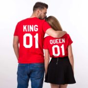 King 01, Queen 01, Red/White