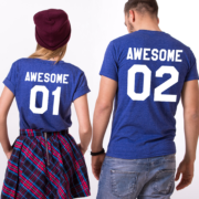 Awesome 01 Awesome 02, Blue/White