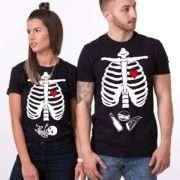 Maternity Shirt, Halloween Skeleton Shirts, Couples Shirts