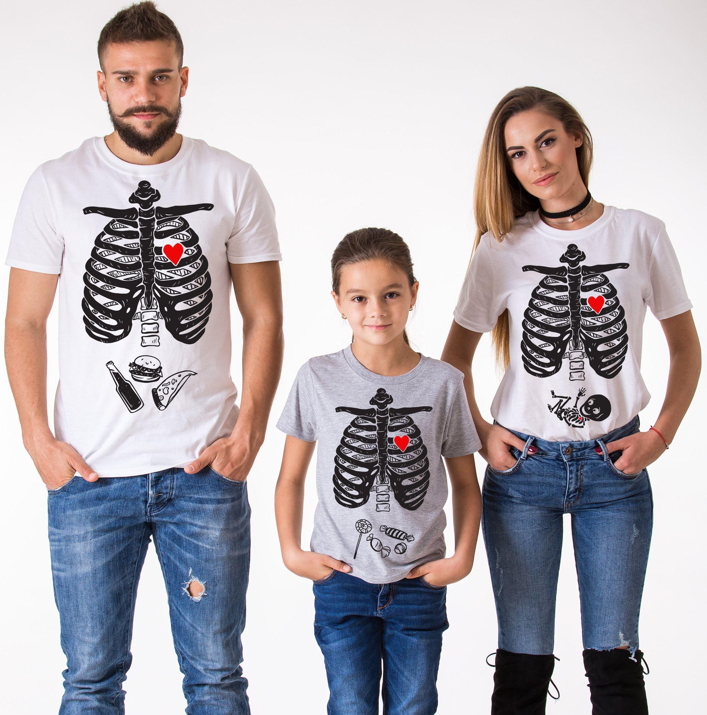 4736b00f Maternity Shirt, Family Shirt, Mom, Dad, Kid, White, Gray