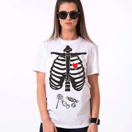 Halloween Candy Shirt, Lollipop Shirt, Skeleton Shirt, Halloween Shirt