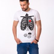 Skeleton and Donuts Shirt, Man, White